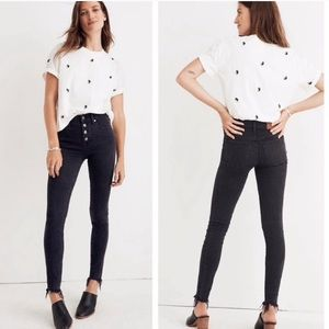 Madewell Berkeley black high rise button fly jeans